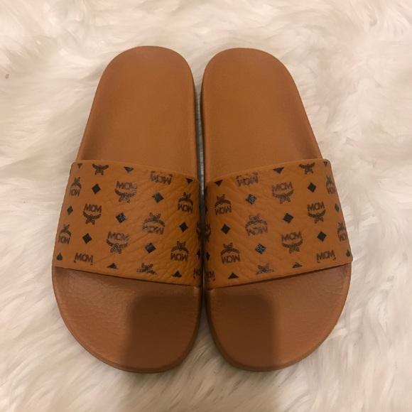1b49f578f MCM Shoes | Women Visetos Slide Sandal Size 38 | Poshmark